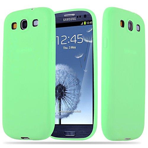 Cadorabo Custodia per Samsung Galaxy S3 / S3 NEO in CANDY PASTELLO VERDE - Morbida Cover Protettiva Sottile di Silicone TPU con Bordo Protezione - Ultra Slim Case Antiurto Gel Back Bumper Guscio