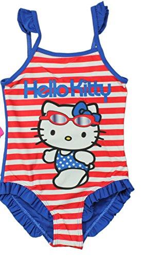Hello Kitty costume da bagno da 2 diversi colori in, Rosso/Blu, 116-122