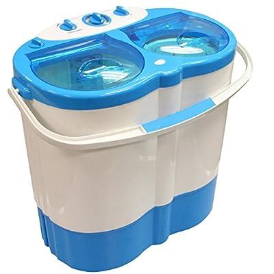 MP Essentials Portable Mini 230V Camping Caravan Travel Washing Machine & Spin Dryer Drying
