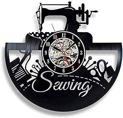 GVC Reloj de Pared con Registro de Vinilo, diseño Moderno, Sala de ...