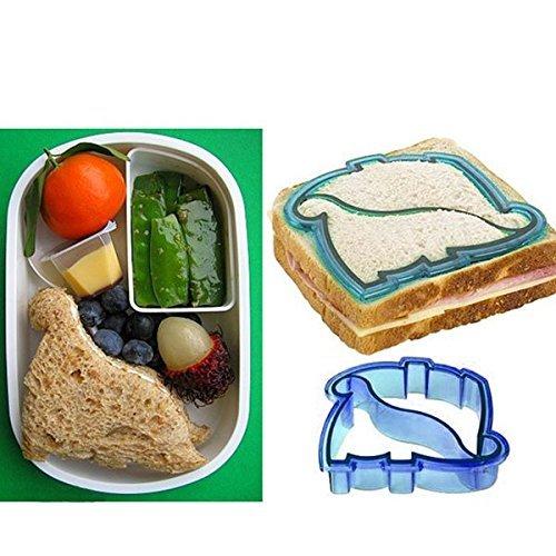 Fengh mignon Dinosaure Forme Cookie Biscuit Sandwich Cutter (couleur aléatoire)