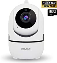 Wireless Security Camera,2MP 1080P Dome Surveillance IP Camera with WiFi Indoor Home Smart Night Vision/Two-Way Audio,2.4Ghz Camera for Baby/Elder/Pet/Nanny Monitor with Cloud Service/Android,iOS App