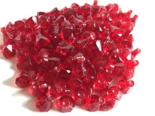 LEGO 100 !! transparent rote Diamanten