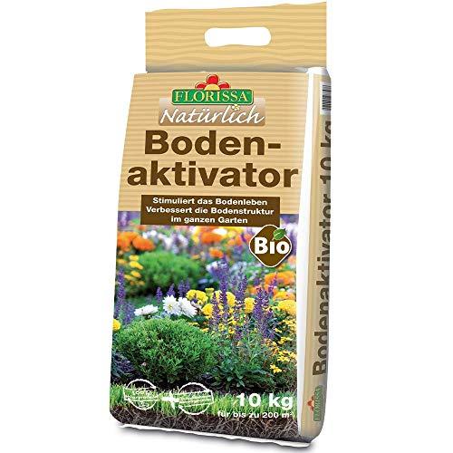Florissa Natürlich 58757 Bio Bodenaktivator | rein pflanzliche Wirkstoffkombination stimuliert Bodenleben | vegan | für den gesamten Garten, Braun