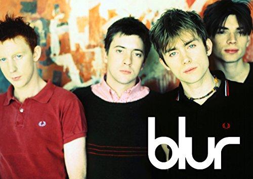 Blur # 4–90's Indi Band–Damon Albarn–Band–Musik Legenden–A3Poster–Kunstdruck–Bild