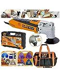 Utensile multifunzione oscillante 300W cmt11 + kit lame 37 attrezzi lame accessori omm-x37 + borsa professionale multitasche bag-001