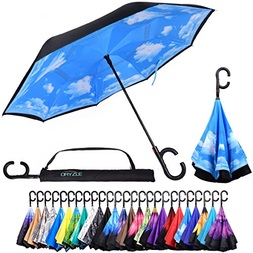 Reverse Inverted Inside Out Umbrella - Upside Down UV Sun...