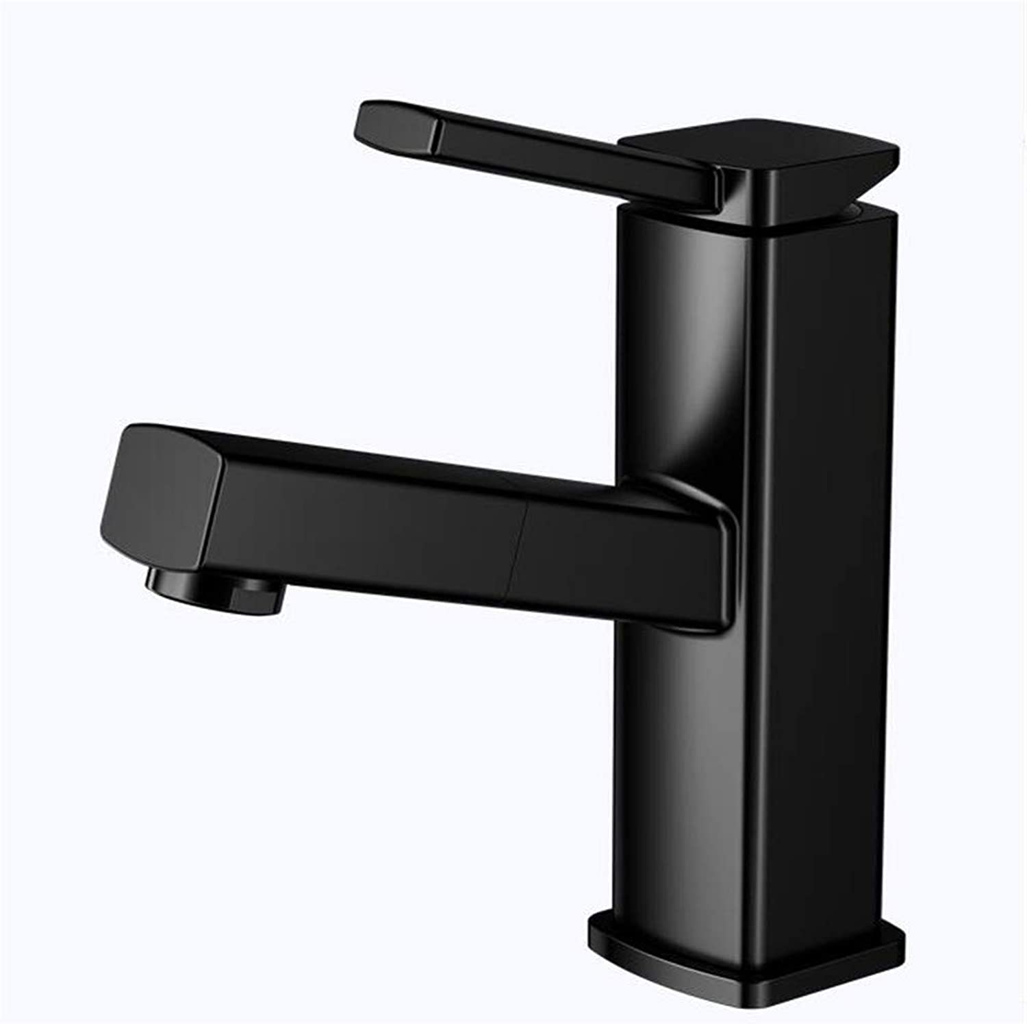 360° redating Faucet Retro Faucetbasin Copper Body Bathroom Above Counter Basin Wash Basin Black Paint