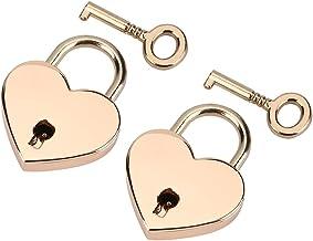 Hartvormig hangslot 2 sets Liefdessloten met sleutel voor bagage Dagelijkse tas Valentijnsdagcadeau