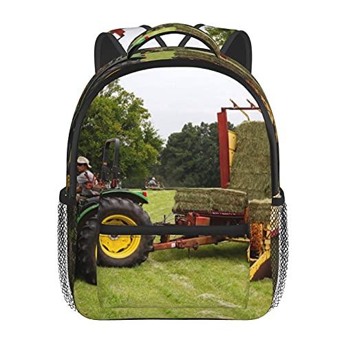RTUBNSD Kinderrucksack Mann reitet auf Aufsitzmäher tragen Carry, Kindergarten Vorschul Tasche Schultasche für Kleinkinder Mädchen Jungen