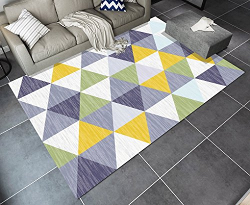 MIAORUIQIN JIN PING Beautiful Homes Modern Simplicity Geometry Carpet Living Room Cffee Table Sofa Big Carpet Bedroom Abstract Nordic Carpet Easy to Clean (Color : #5, Size : 1.4 * 2.0m)