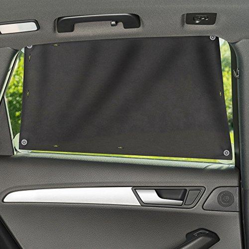 Zamboo Sonnenschutztuch/Sonnenblende fürs Auto - universaler Baby UV Sonnenschutz - einfache Saugnapf Befestigung für Seitenscheibe/Fenster - Grau