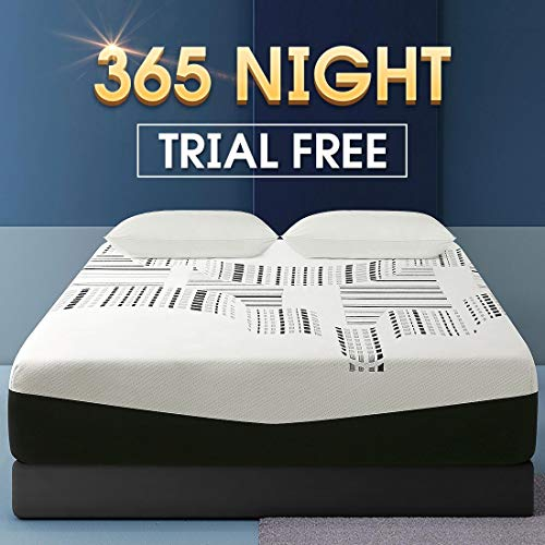 12 inch Memroy Foam Mattress, Queen Size Mattress Soft Bed in a Box Medium Firm,Comfort Body Support & Pressure Relie, 30 Year Warranty