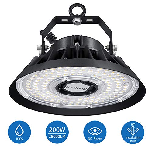 200W Campana LED Industrial UFO ANTEN | 5000K 28000LM IP65 |...