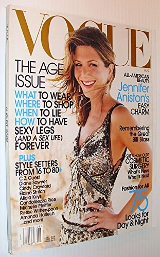 Vogue (USA) Magazine, August 2002 - Jennifer Aniston Cover