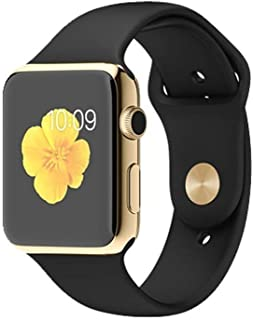 Smooni Smart Watch A1 Bluetooth Smartwatch Compatible with All Mobile Phones for Boys and Girls (Gold)