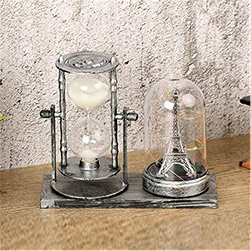 Fósforo de estilo europeo retro torre de hierro estrella luz titular de la pluma decoración adornos reloj de arena estudiante regalo día profesor