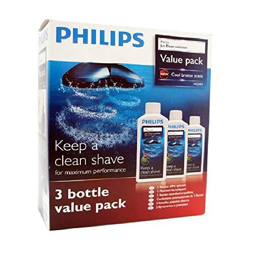 Philips – 3 Packungen Reinigungsflüssigkeit für Rasierer, Pflege, Reinigung – Packung mit 3 Stück à 300 ml