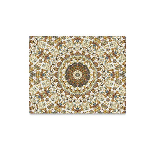 N\A Wohnzimmer Wandfarbe Metallic Goldbraun Muster Kunst Kunst Dekor für Wände Gedruckte Leinwand Malerei Druck Dekor für Zuhause 20x16 Zoll