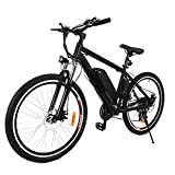 Ferty New in 2018 Fast Electric Mountain Bicycle for Adults with Removable Lithium-ion Battery Integrated Mens Electric Bike [US Stock] (Knight)