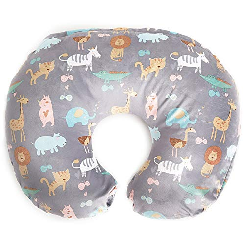 Minky Nursing Pillow Cover - Jungle Pattern Slipcover