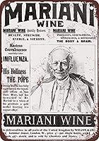 185新しいブリキのサイン1899マリファナワインの教皇レオヴィンテージルックの複製8x12インチ