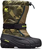 Sorel Kids Boy's Flurry Print (Toddler/Little Kid/Big Kid) Hiker Green/Black 1 8 Toddler