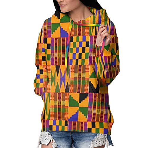 Women'S 3d Hoodie Graphic Hooded Sweatshirts African Tribal Traditional Cultural Folk Pullover Hoodies Casual Pocket Jacket
