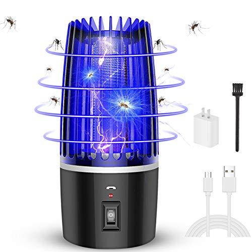 Etmury Elektrischer Insektenvernichter, 2021 USB Wiederaufladbare Moskito Killer Lampe, 2 In 1 Moskitolampe mit 4000mAh Akku für Haushalts-Innen&Außen&Camping, Anti-Mücken/Insekten/Moskito