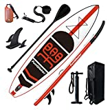 FunWater Inflatable Stand Up Paddle Board 11'×33'×6' Ultra-Light (18.5lbs) SUP for All Skill Levels Everything Included with 10L Dry Bags, Board, Travel Backpack, Adj Paddle, Pump, Leash