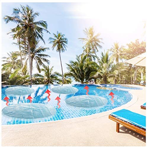 Xchenda Pool Heater Floats - Solar Sun Heater Pool Cover 4 Foot Round Above Ground Blue Protection Swimming Pool for Garden Outdoor Swimming Pool (Blue 6FT)