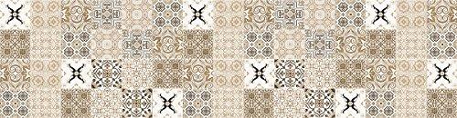Laroom Alfombra Vinílica de Cocina Diseño Faro, Vinilo Antiliscante, Beige, 65x250 cm