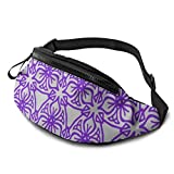 XCNGG Bolso de la Cintura del Ocio Bolso Que acampa Bolso del montañismo Purple Graffiti Fanny Packs for Women and Men Waist Bag Adjustable Belt for...