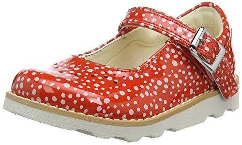 Clarks Crown Jump T, Mocassini Bambina, Arancione (Orange-), 26 EU