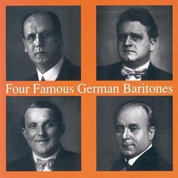 Four Famous German Baritones