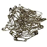 iNee Curved Safety Pins, Quilting Basting Pins, Nickel-Plated Steel, Size 3, 50 Count...