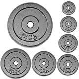 Greenbay Cast Iron Weight Plate - Dumbbell Weights for Fitness Weight Lifting Home Gym Equipment - 20kg