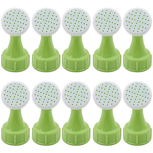 Kaimeilai 10pcs regadera de botella, regadera de botella, boquilla de riego de plástico, regadera, regadera, cabezal de ducha