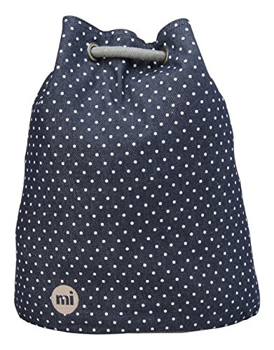 Mi-Pac schoudertas, denim, puntenpatroon, tas - indigo/wit, één maat