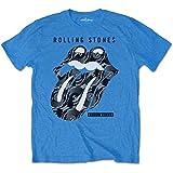 Rolling Stones The Steel Wheels Camiseta, Negro (Black Black), Small para Hombre