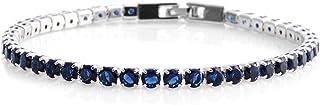 Cubic Zirconia CZ Eternity Bridal Tennis Bracelet for...