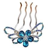 ZOYLINK Peine del Pelo De La Boda Crystal Headpiece Nupcial del Pelo Peines Laterales para Dama De Honor con PedreríA