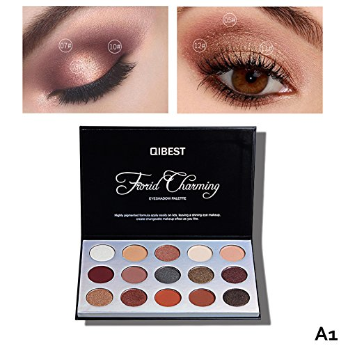 Palette de Fard à Paupières, 15 Couleurs Poudre Haute Pigment Longue Durée Professionnelle Eye Foundation Shimmer Cosmétique