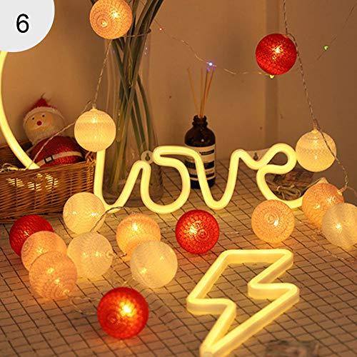 TankMR USB/accu, 20 LED's, Kerstmis, feen, op batterijen werkende LED-lampen, voor decoratie in binnen- en slaapkamer. Boîtier de batterie 6#