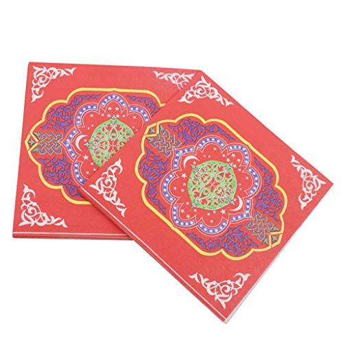 SM SunniMix 20x Arabischer Stil Einweg Papierservietten Tissueservietten Paper Napkins Party Zubehör, ca. 33 x 33 cm - I