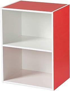 Armoire de rangement en bois à 2 couches, casier de bureau, petite bibliothèque