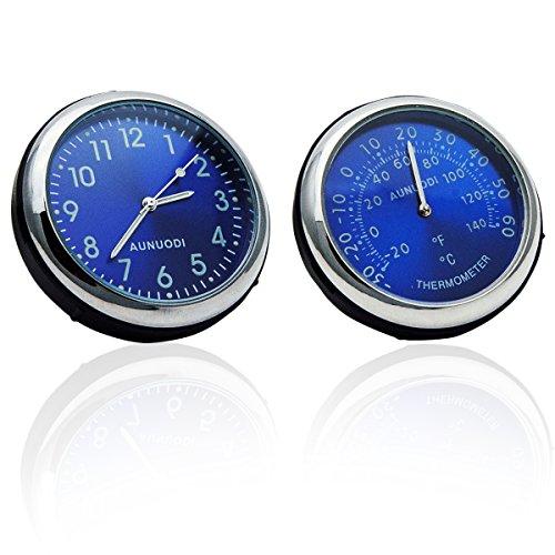Auto-Lufterfrischer mit Thermometer, zur Befestigung an den Lüftungsschlitzen, tragbar, für Geländewagen, Uhr mit 12-Stunden-Anzeige, Thermometer