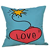 LHOKAZ Funda De Almohada Corazón para Happy Valentine's Day Throw Pillow Case...