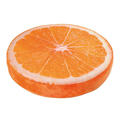 """Sitzkissen Orange, ein echter Hingucker, angenehmer Sitzkomfort durch hochwertigen Schaumstoff, dekorative """"optische Täuschung"""""""