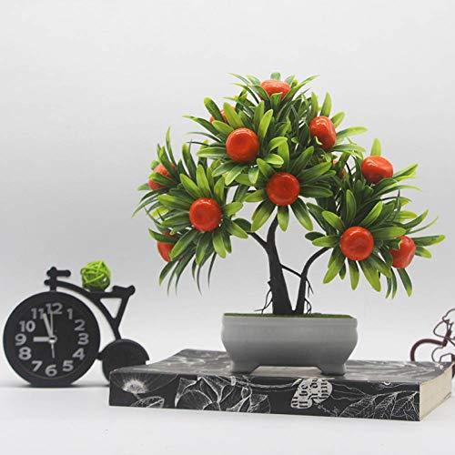 HYLZW Kunstmatige Bloem Plant Idyllische Stijl Simulatie Fruit Potted Trinkets Nep Kunststof Bloempot Kantoor Woonkamer Bureau Decoratie